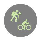 Verweisgrafik Routenplaner für Fahrrad/Wandern